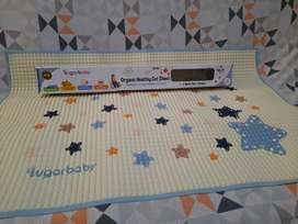 Sugar Baby Organic Healthy Cot Sheet (Perlak Organik) - Blue Star