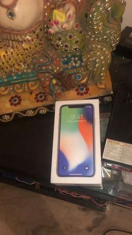 Iphone x gud condition box and charger