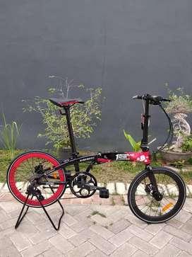 Sepeda Lipat Seli Element 10 Sumpah Pemuda 20 inci Baru Murah