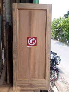 Pintu jati tua asli