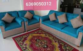 It's new Italian fabric material branded sofa 3+1+1