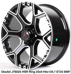 Hsr Oksibil JT6025 Ring 20x9 Hole  6x139,7 ET 20 Black Machine Face