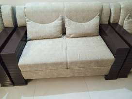 4 seater skin color wooden sofa