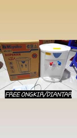 mengantar dispenser miyako 186h dispenser hot normal +tutup antitumpah
