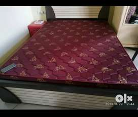 Queen bed with storage and mattress