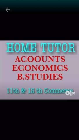 Commerce Home Tutor Accounts Economics