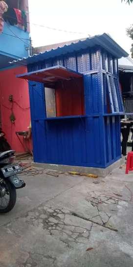 booth container lemari allmunium dan kusen alluminium