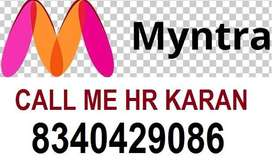 Myntra online shopping Company job full time apply helper,store keeper