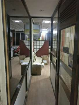 Furnished Office Space with Cabin, AC's, Workstations, Storage