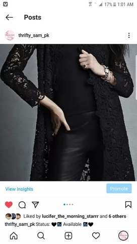 Black beautiful net coat