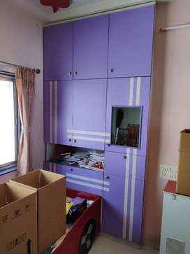 Kids wardrobe and study table