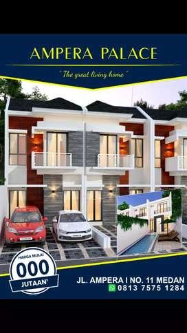 Rumah 3 Kamar pakai kolam renang pribadi
