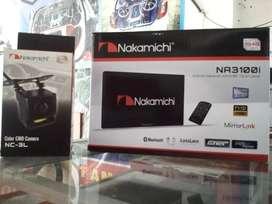 Paket dvd 2din nakamichi + kamera plus pasang