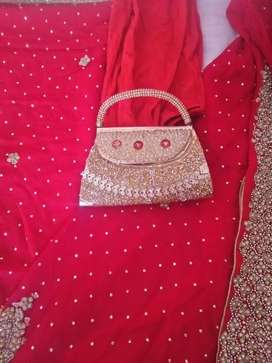Bridle lehnga size medium one time use for few hours