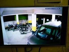 CCTV Camera - Car + bike parking - Installation