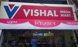 Girls and boys urgent haring for Vishal mega mart shopping malls