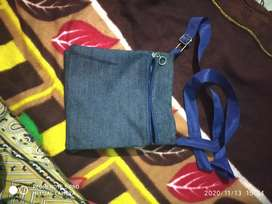 Jean cloth sling bag