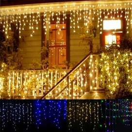 Lampu Gorden Dekorasi Icicle String Fairy Light 5M