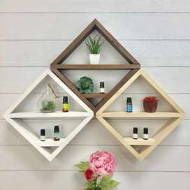 Pine wood wall shelves and other product