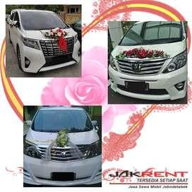 rental mobil new alphard ( wedding car )