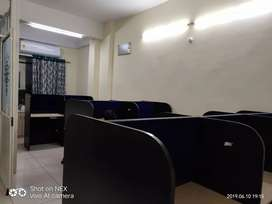15 seater 1 boss cabin, AC , reception, fully furnished office on rent