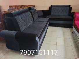 Full cover 2+1+2 corner seater sofa