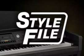 Yamaha file. Korg file voice style available Yamaha pad