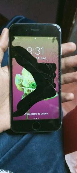 Iphone 6 display broken for sale  32 gb 4 rom