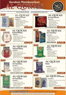 Ass wr wb, Bismillah tersedia Al Qur'an berbagai ukuran dan terjemahan