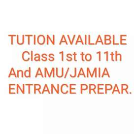 Tution Available class 1st to 11th