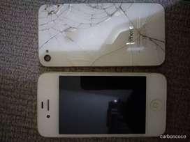 Layar iphone 4 bekas minus