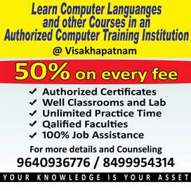 Computer languages, graphic designing and Animation training center