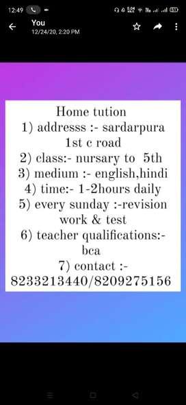 Teaching hub for nursary to 5th class , all subjects