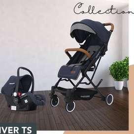 Stroller Koper + Car Seat Kereta Dorong Bayi BabyDoes / STROLLER MURAH