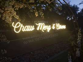 neon wedding,neon sign,neon box,neon text, huruf timbul,papan nama,