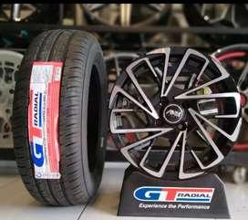 Paket velg+ban mobil racing murah Ring 15 rata GT Champiro eco