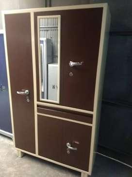 Brand new 3 storage metal wardrobe at very affordable price