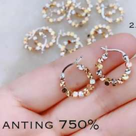 Anting Star permata Emas asli