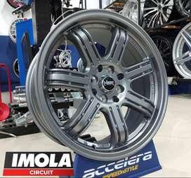 pelek mobil murah ring 17 HSR wheel murah import r17 Grey gresik