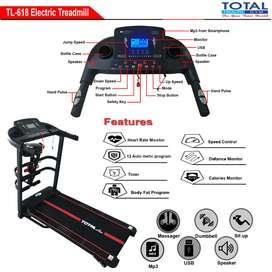 Ready treadmill elektrik 2hp manual incline 4 fungsi tampilan gagah