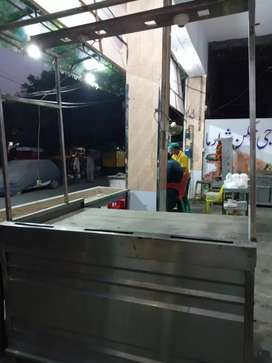 Burger counter steel for sale