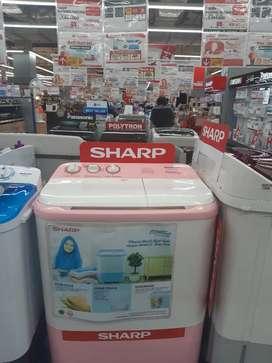 Sharp 2 tabung 7,5kg bisa cicilan tanpa Dp