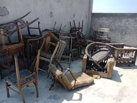 Old raw stored furniture