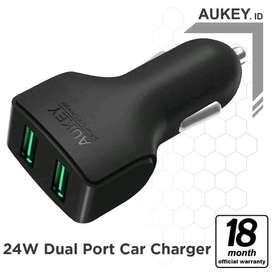 AUKEY Car Charger 2Port 24W AiQ -500223