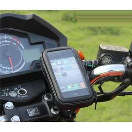 Holder Smartphone Universal Spion Sepeda Motor Anti Air 6.4 inch