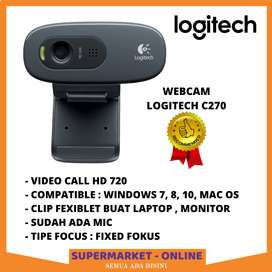 Kamera Camera Webcam PC Laptop Komputer Logitech 720P Asli Original