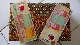 Uang kertas kuno Rp 100.000,-(plastik) tahun 1999