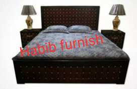 bed with side table dressing
