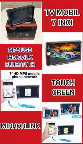 Tv Double Din Mirror Link Bisa Youtobe.Gps.Game.Bluettoth