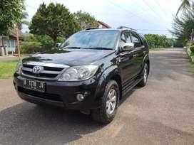 Dijual Fortuner 2007 Hitam Kondisi Istimewa KM Rendah Jarang Ada!